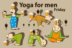 Yoga for men. Stock Image
