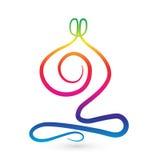 Yoga men stylized logo Royalty Free Stock Image