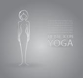 Yoga metal icon Stock Photo