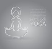 Yoga metal icon Royalty Free Stock Photos