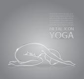 Yoga metal icon Stock Images