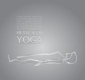 Yoga metal icon Royalty Free Stock Photo