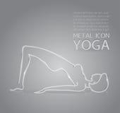 Yoga metal icon Royalty Free Stock Photography