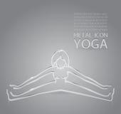 Yoga metal icon Stock Image