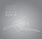 Yoga metal icon Stock Photos