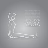 Yoga metal icon Royalty Free Stock Image