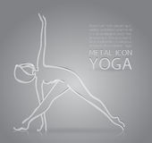 Yoga metal icon Royalty Free Stock Images
