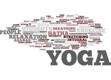 Yoga For Modern City Life Hatha Yoga Most Popular In The Us Text Background  Word Cloud Concept Stock Image