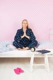 Yoga morgens Lizenzfreie Stockfotos