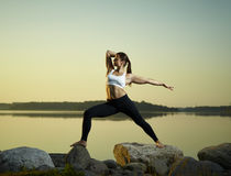 Yoga in the morning Stock Photography