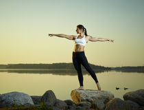 Yoga in the morning Royalty Free Stock Image