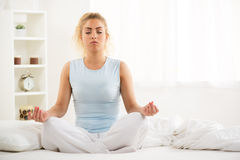 Yoga in the morning Stock Photo