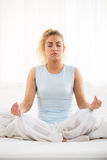 Yoga in the morning Royalty Free Stock Photography