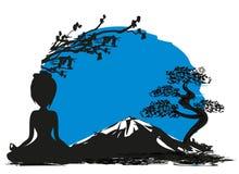 Yoga on Mountain Royalty Free Stock Photos
