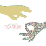 Yoga mudra. Royalty Free Stock Image