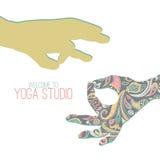 Yoga mudra. royalty free illustration