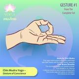 01 Yoga Mudras Gestures stock illustration