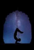 Yoga nachts Stockbilder