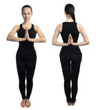 Yoga namaste pose Stock Photography