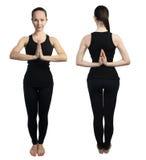 Yoga namaste pose Stock Photography