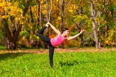 Yoga nataradzhasana pose Royalty Free Stock Photos