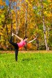 Yoga nataradzhasana pose Stock Image