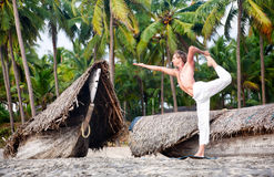 Yoga natarajasana dancer pose Royalty Free Stock Photography