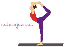 Yoga. Natarajasana. Good yoga asana is Natarajasana pose vector illustration