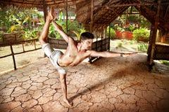 Yoga natarajasana in India Royalty Free Stock Photo