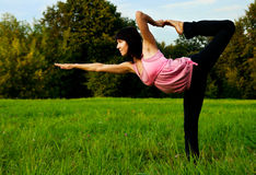Yoga in nature Royalty Free Stock Photos