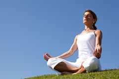 Yoga at the nature Royalty Free Stock Photography