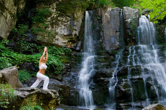 Yoga in the nature Royalty Free Stock Photography