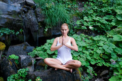 Yoga in the nature Stock Photos