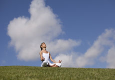 Yoga at the nature Royalty Free Stock Photo