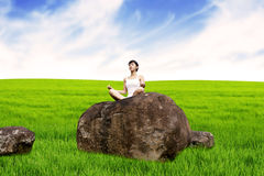 Yoga in nature Royalty Free Stock Photo