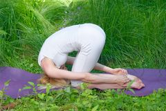 Yoga in nature Royalty Free Stock Image