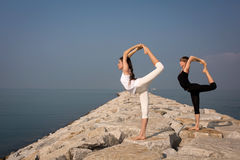 Yoga in nature Stock Photography