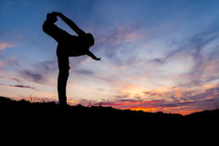 Yoga in the nature Royalty Free Stock Image