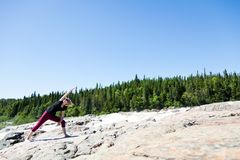 Yoga in nature Royalty Free Stock Images