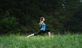 Yoga on the nature Stock Photos