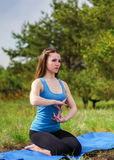 Yoga on the nature Royalty Free Stock Photos