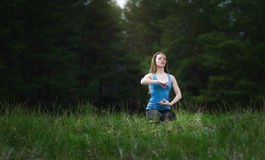 Yoga on the nature Royalty Free Stock Image