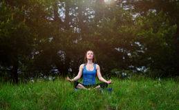 Yoga on the nature Stock Images