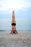 Yoga Near Sea Royalty Free Stock Images