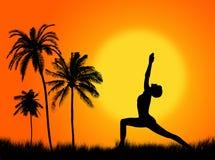 Yoga nella natura royalty illustrazione gratis