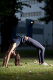 Yoga at night Stock Image