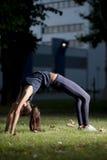 Yoga at night. Young woman doing yoga at  night Stock Image