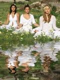 Yoga o meditazione Fotografia Stock