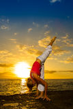 Yoga by the Ocean Royalty Free Stock Image