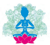 Yoga och andlighet Arkivfoton